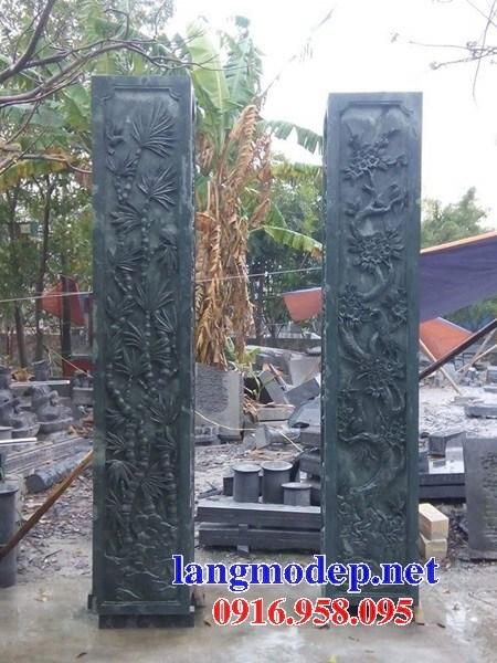 92 Mẫu cột đá cột đồng trụ nhà thờ họ đình đền chùa miếu khu lăng mộ bằng đá xanh rêu tại Phú Thọ