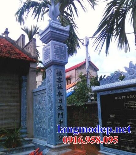 92 Mẫu cột đá cột đồng trụ nhà thờ họ đình đền chùa miếu khu lăng mộ bằng đá xanh tại Phú Thọ