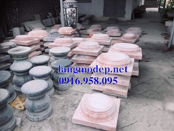 92 Mẫu chân cột chân tảng nhà thờ họ đình đền chùa miếu khu lăng mộ bằng đá đỏ tại Phú Thọ