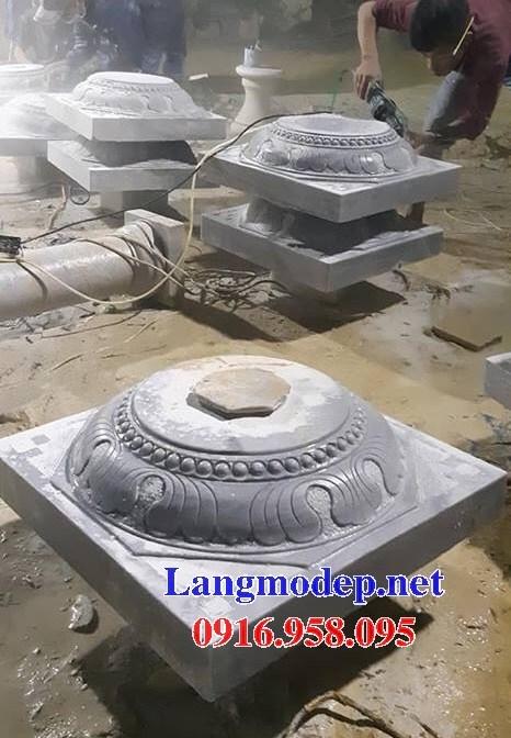 92 Mẫu chân cột chân tảng nhà thờ họ đình đền chùa miếu khu lăng mộ bằng đá tại Phú Thọ