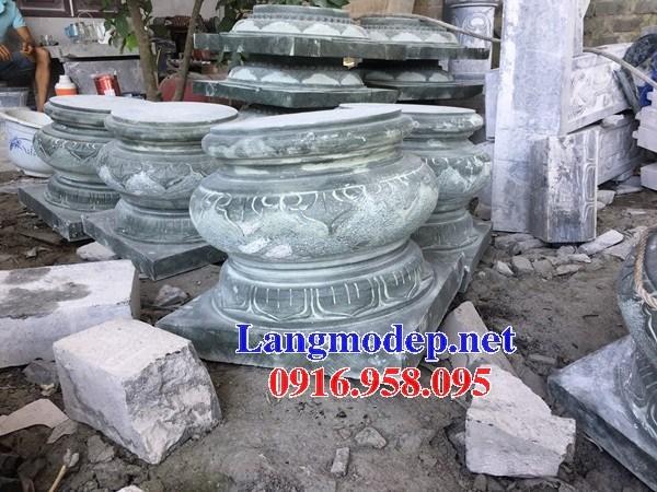 92 Mẫu chân cột chân tảng nhà thờ họ đình đền chùa miếu khu lăng mộ bằng đá xanh tại Phú Thọ