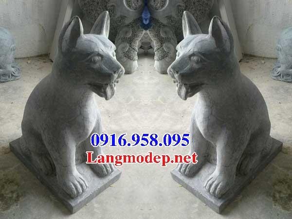 92 Mẫu chó phong thủy nhà thờ họ đình đền chùa miếu khu lăng mộ bằng đá Ninh Bình tại Phú Thọ