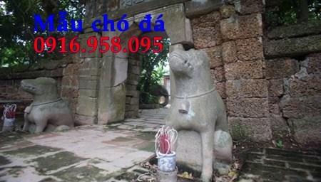 92 Mẫu chó phong thủy nhà thờ họ đình đền chùa miếu khu lăng mộ bằng đá tại Phú Thọ