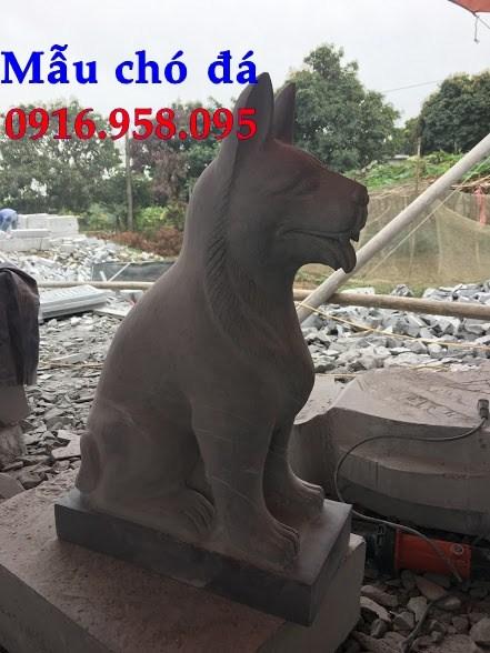 92 Mẫu chó phong thủy nhà thờ họ đình đền chùa miếu khu lăng mộ bằng đá tự nhiên tại Phú Thọ