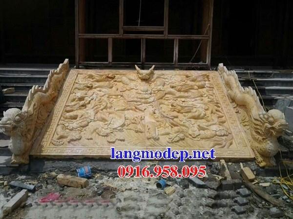 92 Mẫu chiếu rồng nhà thờ họ đình đền chùa miếu khu lăng mộ bằng đá vàng tại Phú Thọ