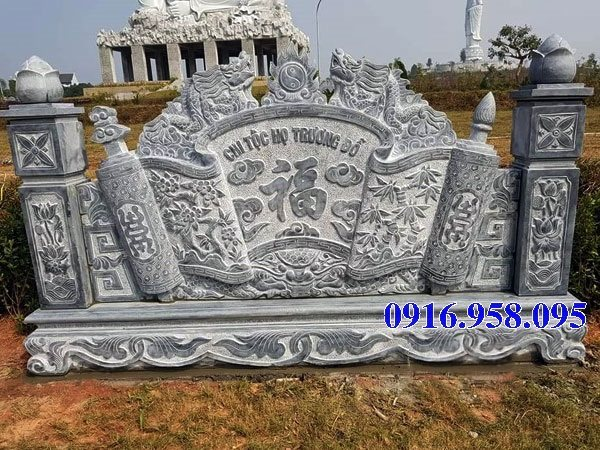 92 Mẫu cuốn thư bức bình phong nhà thờ họ đình đền chùa miếu khu lăng mộ bằng đá chạm khắc tinh xảo tại Phú Thọ