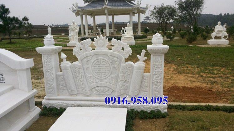 92 Mẫu cuốn thư bức bình phong nhà thờ họ đình đền chùa miếu khu lăng mộ bằng đá trắng tại Phú Thọ