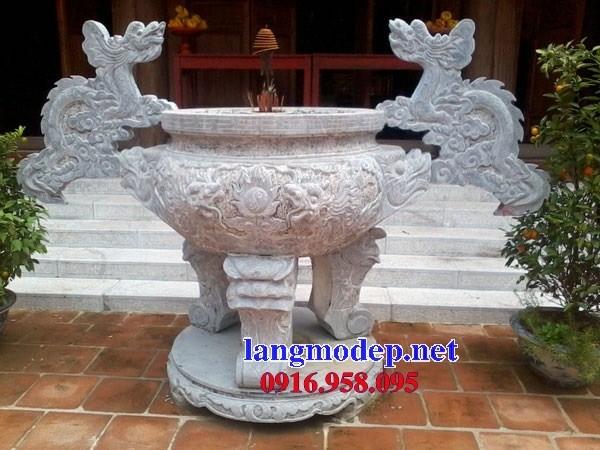 92 Mẫu lư hương đỉnh đèn nhà thờ họ đình đền chùa miếu khu lăng mộ bằng đá thi công lắp đặt tại Phú Thọ