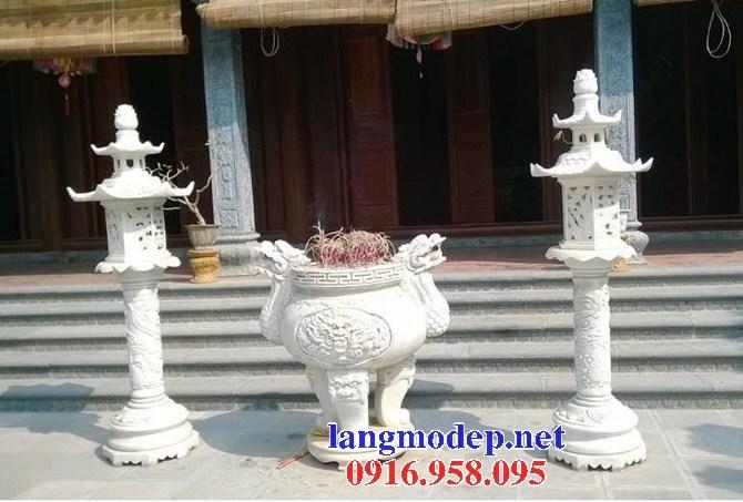 92 Mẫu lư hương đỉnh đèn nhà thờ họ đình đền chùa miếu khu lăng mộ bằng đá trắng tại Phú Thọ
