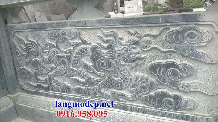 92 Mẫu lan can tường rào nhà thờ họ đình đền chùa miếu khu lăng mộ bằng đá chạm trổ tứ quý tại Phú Thọ