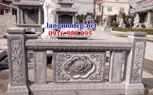 92 Mẫu lan can tường rào nhà thờ họ đình đền chùa miếu khu lăng mộ bằng đá thiết kế đẹp tại Phú Thọ