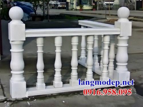 92 Mẫu lan can tường rào nhà thờ họ đình đền chùa miếu khu lăng mộ bằng đá trắng tại Phú Thọ
