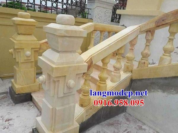 92 Mẫu lan can tường rào nhà thờ họ đình đền chùa miếu khu lăng mộ bằng đá vàng tại Phú Thọ