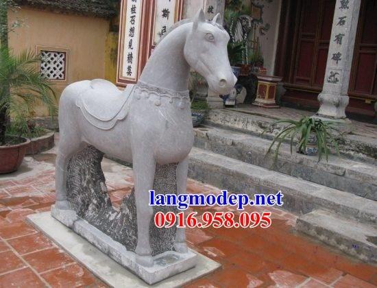 92 Mẫu ngựa phong thủy nhà thờ họ đình đền chùa miếu bằng đá tại Phú Thọ