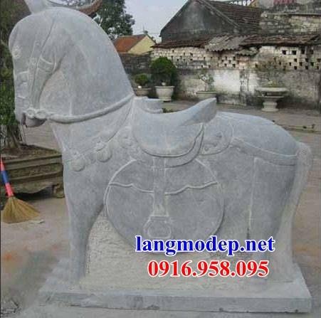 92 Mẫu ngựa phong thủy nhà thờ họ đình đền chùa miếu khu lăng mộ bằng đá Ninh Bình tại Phú Thọ