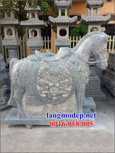 92 Mẫu ngựa phong thủy nhà thờ họ đình đền chùa miếu khu lăng mộ bằng đá Thanh Hóa tại Phú Thọ