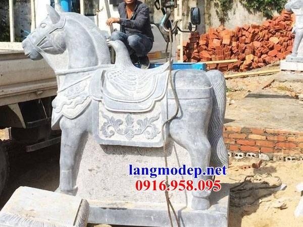 92 Mẫu ngựa phong thủy nhà thờ họ đình đền chùa miếu khu lăng mộ bằng đá tại Phú Thọ
