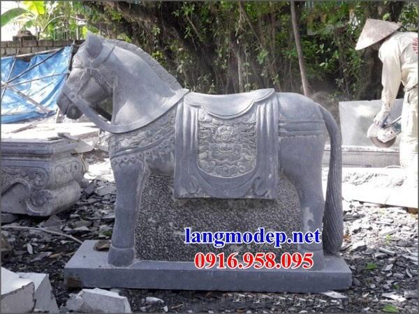 92 Mẫu ngựa phong thủy nhà thờ họ đình đền chùa miếu khu lăng mộ bằng đá tự nhiên tại Phú Thọ