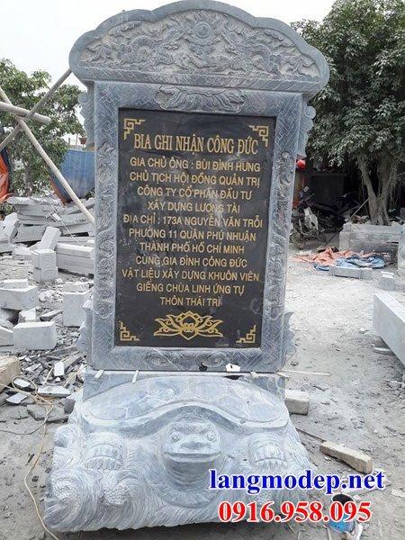 92 Mẫu rùa cõng bia ghi danh nhà thờ họ đình đền chùa miếu khu lăng mộ bằng đá đặt tại Phú Thọ