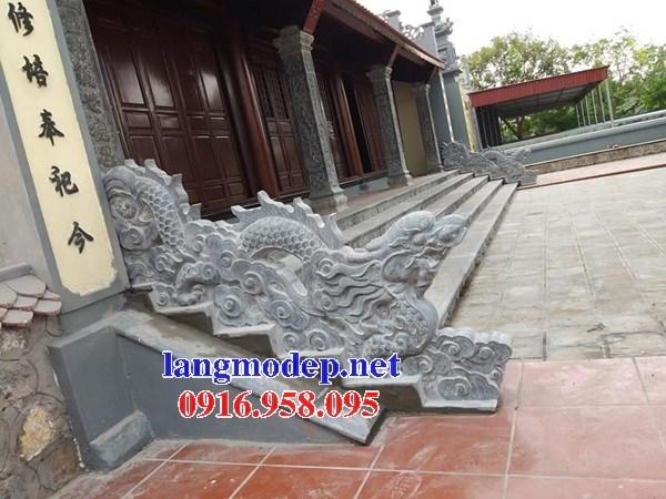 92 Mẫu rồng bậc thềm nhà thờ họ đình đền chùa miếu khu lăng mộ bằng đá tại Phú Thọ