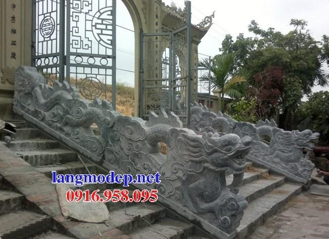 92 Mẫu rồng bậc thềm nhà thờ họ đình đền chùa miếu khu lăng mộ bằng đá tự nhiên tại Phú Thọ