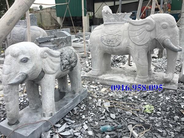 92 Mẫu voi phong thủy nhà thờ họ đình đền chùa miếu khu lăng mộ bằng đá tại Phú Thọ