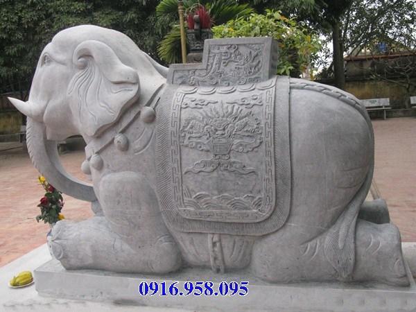 92 Mẫu voi phong thủy nhà thờ họ đình đền chùa miếu khu lăng mộ bằng đá thờ cúng tại Phú Thọ