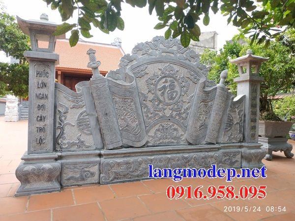 95 Mẫu Hình ảnh cuốn thư bức bình phong nhà thờ họ đình đền chùa miếu khu lăng mộ bằng đá tại Lào Cai