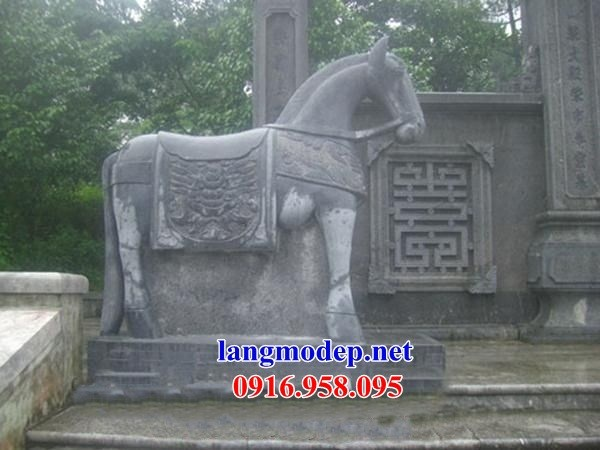 95 Mẫu Hình ảnh ngựa phong thủy nhà thờ họ đình đền chùa miếu khu lăng mộ bằng đá tại Lào Cai