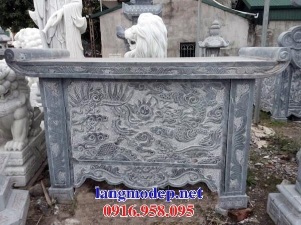 95 Mẫu bàn lễ nhà thờ họ đình đền chùa miếu khu lăng mộ bằng đá điêu khắc rồng phượng tại Lào Cai