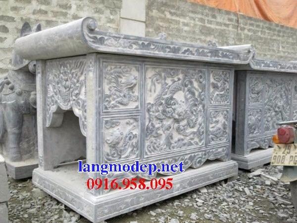 95 Mẫu bàn lễ nhà thờ họ đình đền chùa miếu khu lăng mộ bằng đá bán tại Lào Cai