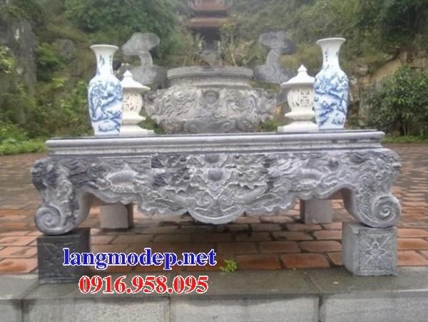 95 Mẫu bàn lễ nhà thờ họ đình đền chùa miếu khu lăng mộ bằng đá tại Lào Cai