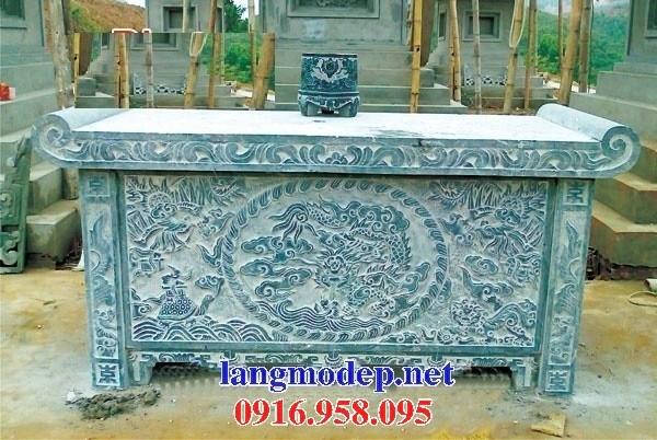 95 Mẫu bàn lễ nhà thờ họ đình đền chùa miếu khu lăng mộ bằng đá xanh tại Lào Cai