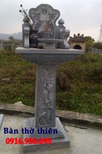 95 Mẫu bàn thờ thiên nhà thờ họ đình đền chùa miếu khu lăng mộ bằng đá tại Lào Cai