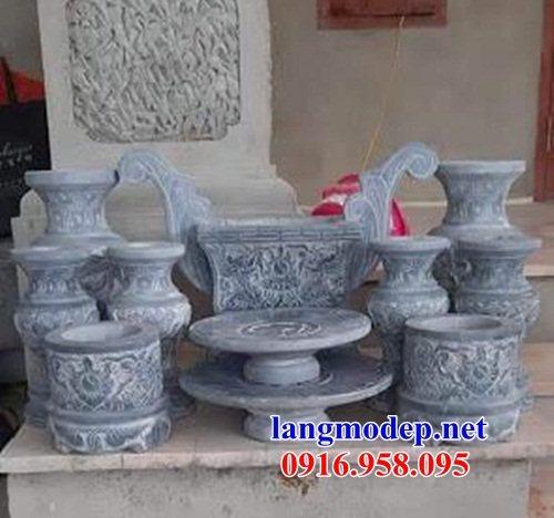 95 Mẫu bát hương bình bông nhà thờ họ đình đền chùa miếu khu lăng mộ bằng đá Ninh Bình tại Lào Cai