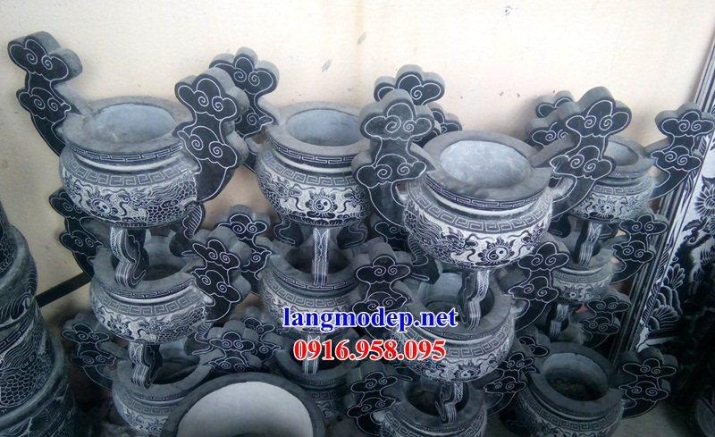 95 Mẫu bát hương bình bông nhà thờ họ đình đền chùa miếu khu lăng mộ bằng đá Thanh Hóa tại Lào Cai