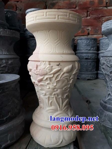 95 Mẫu bát hương bình bông nhà thờ họ đình đền chùa miếu khu lăng mộ bằng đá trắng tại Lào Cai