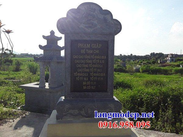 95 Mẫu bia ghi danh nhà thờ họ đình đền chùa miếu khu lăng mộ bằng đá nguyên khối tại Lào Cai