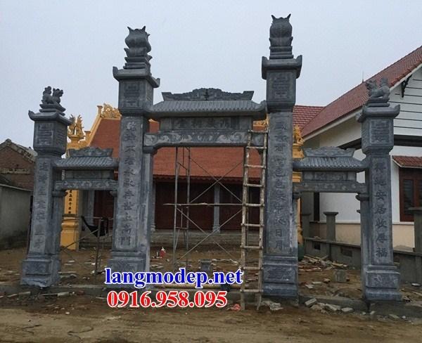 95 Mẫu cổng tam quan nhà thờ họ đình đền chùa miếu khu lăng mộ bằng đá thi công lắp đặt tại Lào Cai