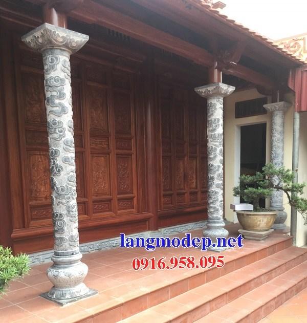 95 Mẫu cột đá cột đồng trụ nhà thờ họ đình đền chùa miếu khu lăng mộ bằng đá Ninh Bình tại Lào Cai