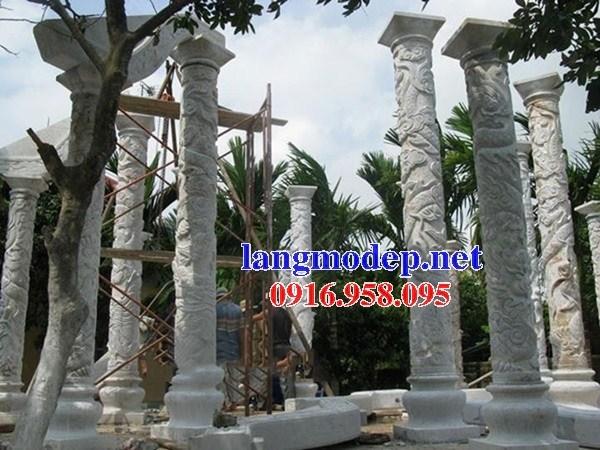 95 Mẫu cột đá cột đồng trụ nhà thờ họ đình đền chùa miếu khu lăng mộ bằng đá bán tại Lào Cai
