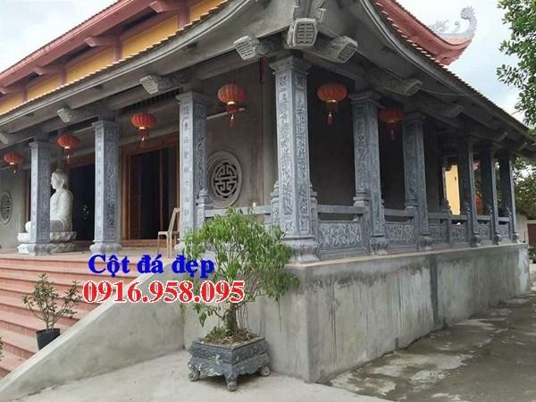 95 Mẫu cột đá cột đồng trụ nhà thờ họ đình đền chùa miếu khu lăng mộ bằng đá tại Lào Cai