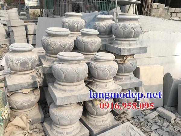 95 Mẫu chân cột chân tảng nhà thờ họ đình đền chùa miếu khu lăng mộ bằng đá bán tại Lào Cai