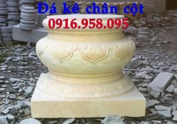 95 Mẫu chân cột chân tảng nhà thờ họ đình đền chùa miếu khu lăng mộ bằng đá vàng tại Lào Cai