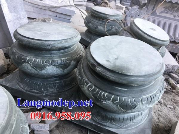 95 Mẫu chân cột chân tảng nhà thờ họ đình đền chùa miếu khu lăng mộ bằng đá xanh rêu tại Lào Cai