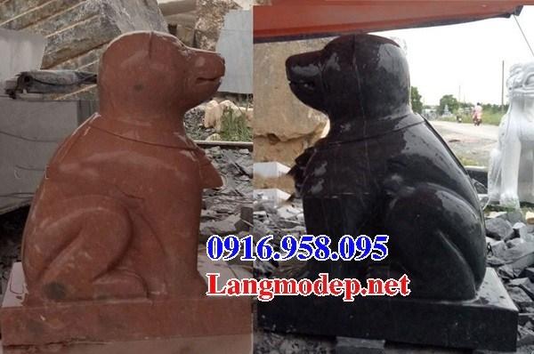 95 Mẫu chó phong thủy nhà thờ họ đình đền chùa miếu khu lăng mộ bằng đá đỏ tại Lào Cai