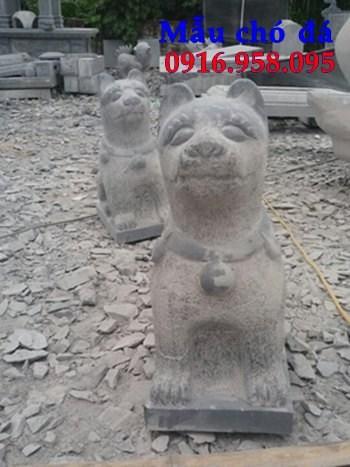 95 Mẫu chó phong thủy nhà thờ họ đình đền chùa miếu khu lăng mộ bằng đá tự nhiên tại Lào Cai