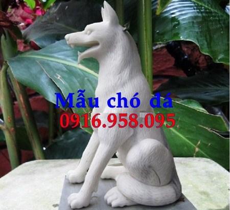 95 Mẫu chó phong thủy nhà thờ họ đình đền chùa miếu khu lăng mộ bằng đá trắng tại Lào Cai