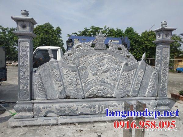 95 Mẫu cuốn thư bức bình phong nhà thờ họ đình đền chùa miếu khu lăng mộ bằng đá Ninh Bình tại Lào Cai