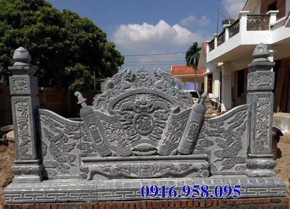 95 Mẫu cuốn thư bức bình phong nhà thờ họ đình đền chùa miếu khu lăng mộ bằng đá tại Lào Cai